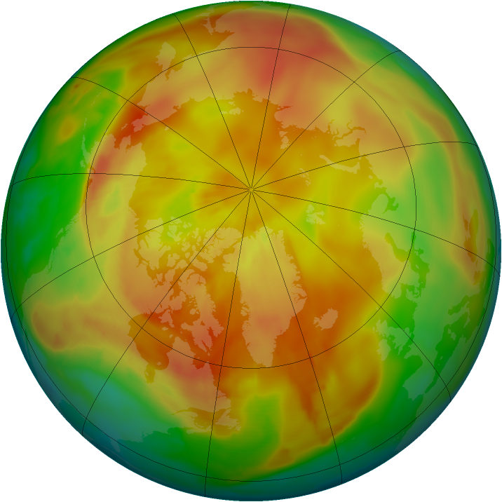 Arctic ozone map for 17 April 2013