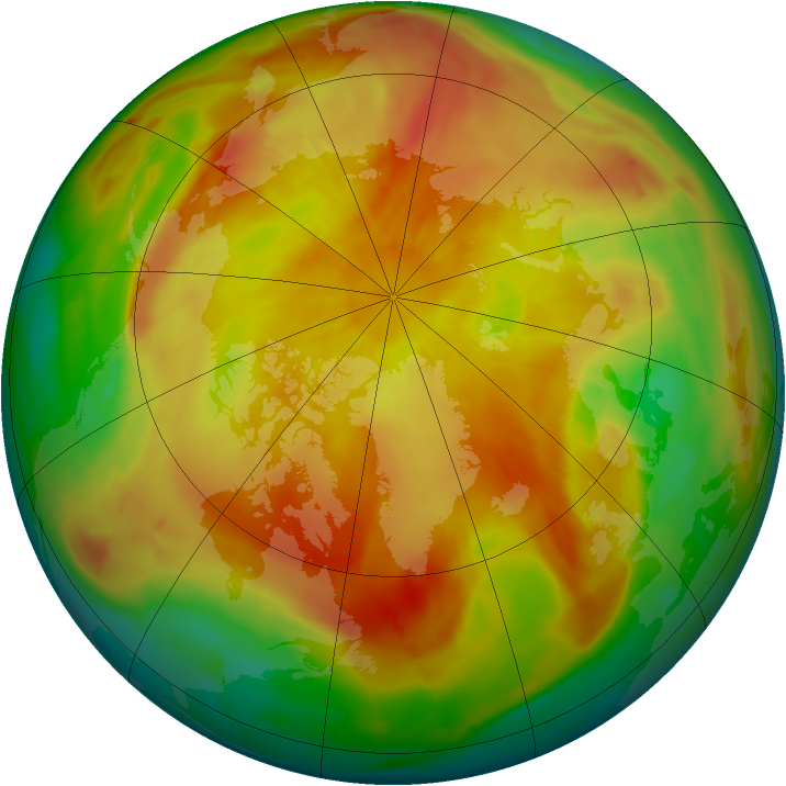 Arctic ozone map for 18 April 2013