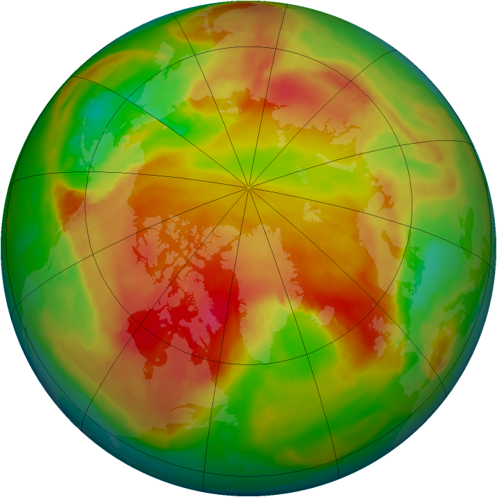Arctic ozone map for 26 April 2013