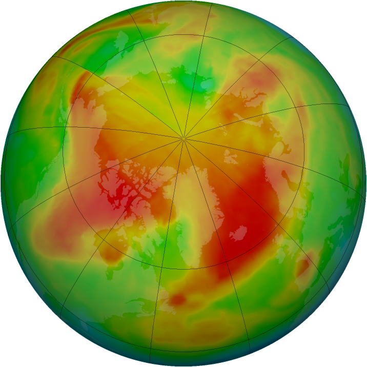 Arctic ozone map for 01 May 2013