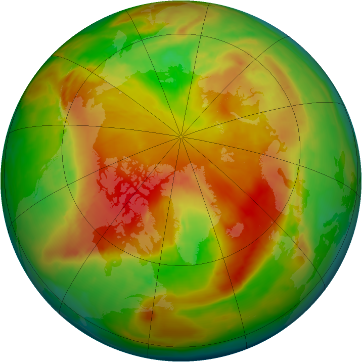 Arctic ozone map for 02 May 2013