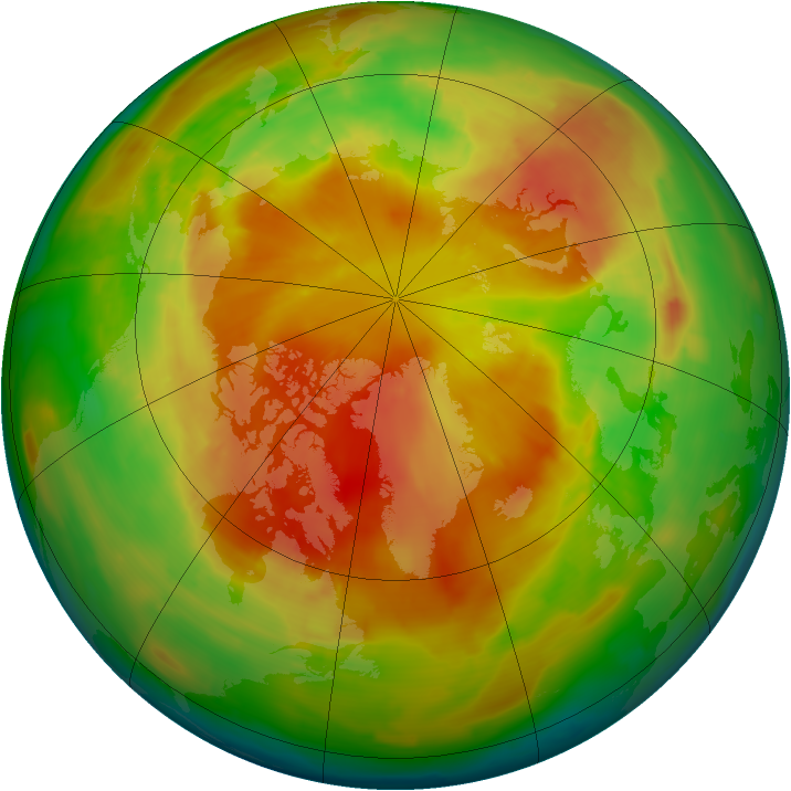 Arctic ozone map for 06 May 2013