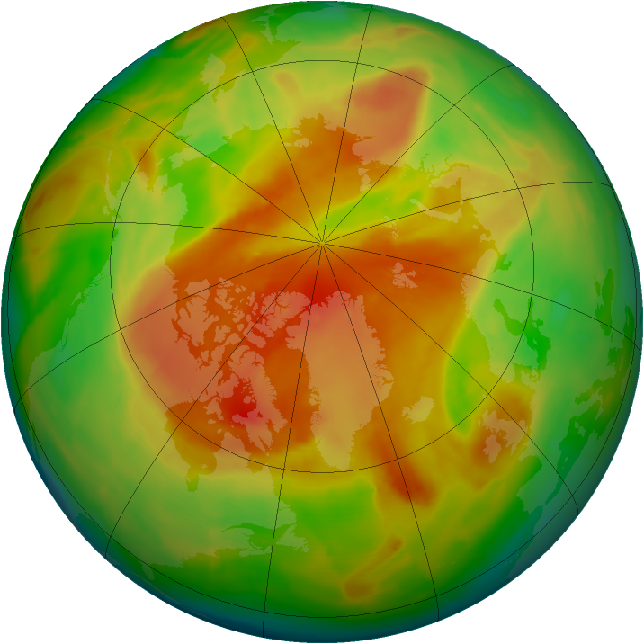 Arctic ozone map for 09 May 2013