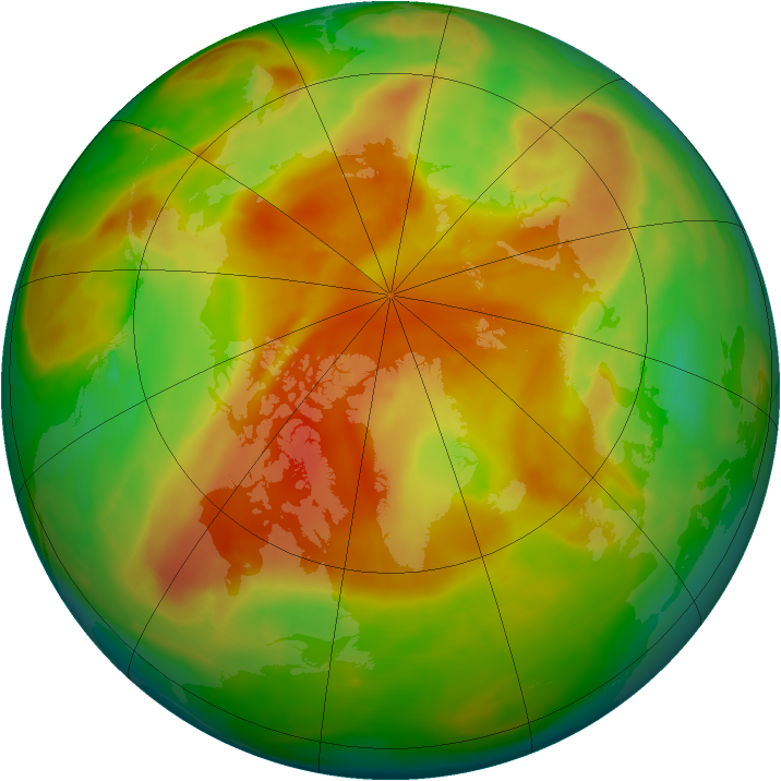 Arctic ozone map for 11 May 2013