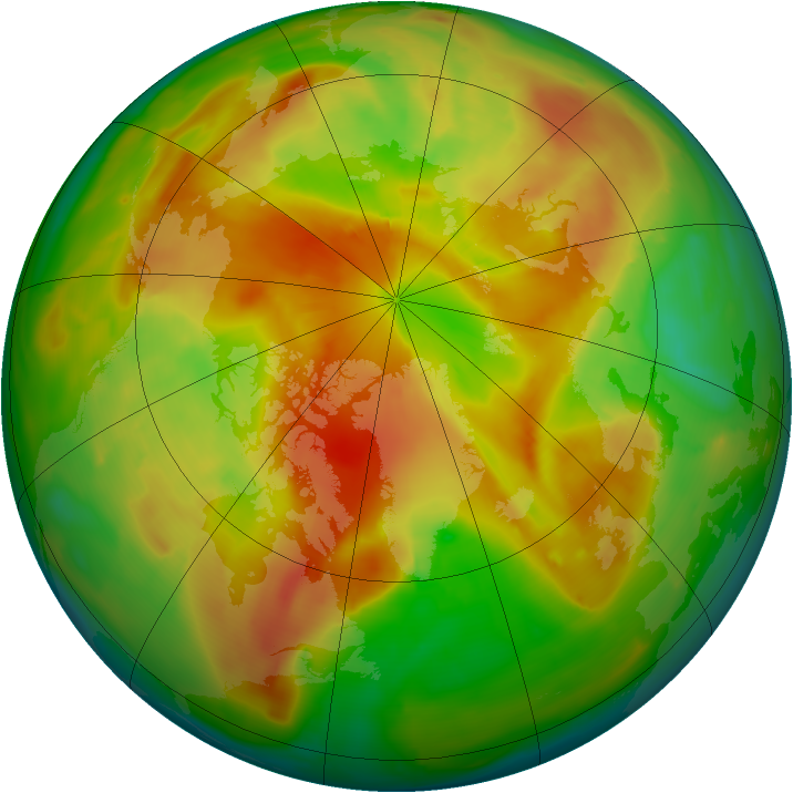 Arctic ozone map for 14 May 2013