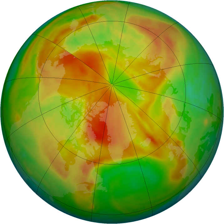 Arctic ozone map for 15 May 2013