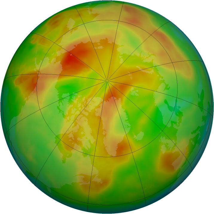Arctic ozone map for 19 May 2013