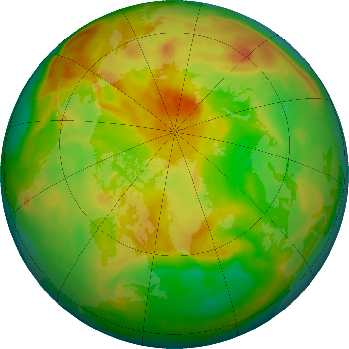 Arctic ozone map for 26 May 2013