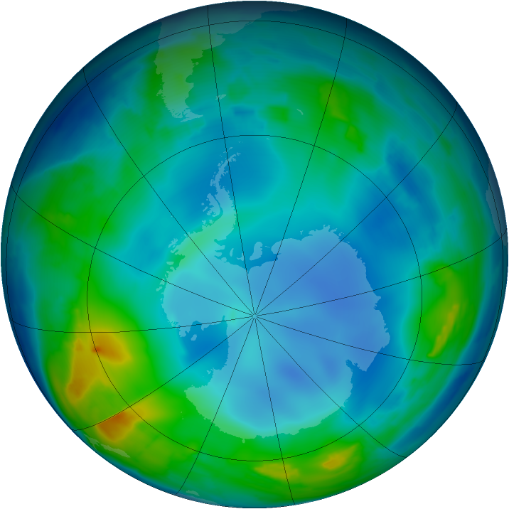Antarctic ozone map for 28 May 2013