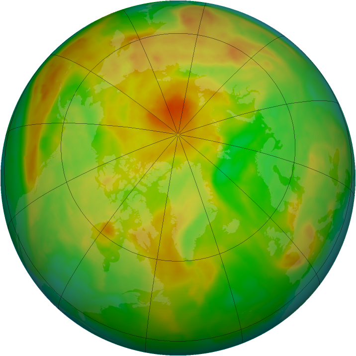 Arctic ozone map for 29 May 2013