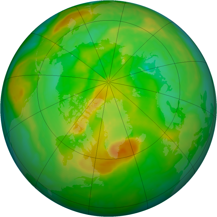 Arctic ozone map for 26 June 2013