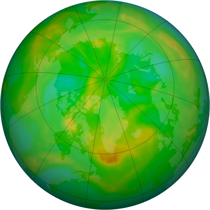 Arctic ozone map for 04 July 2013