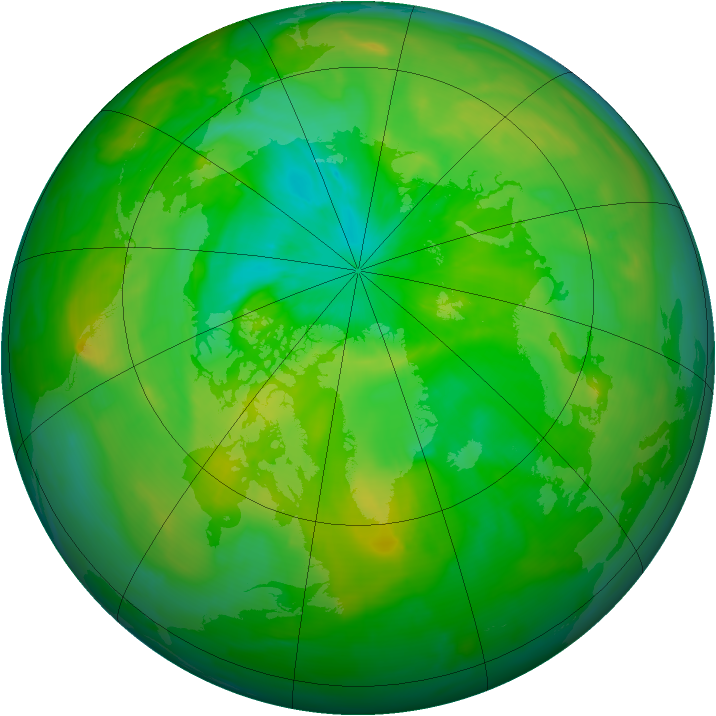 Arctic ozone map for 10 July 2013