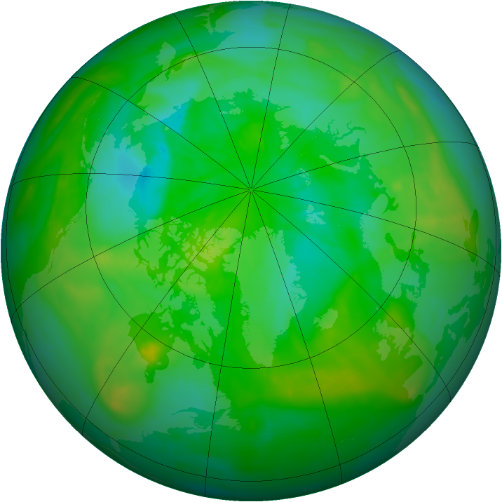 Arctic ozone map for 28 July 2013