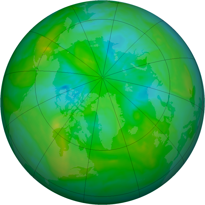 Arctic ozone map for 04 August 2013