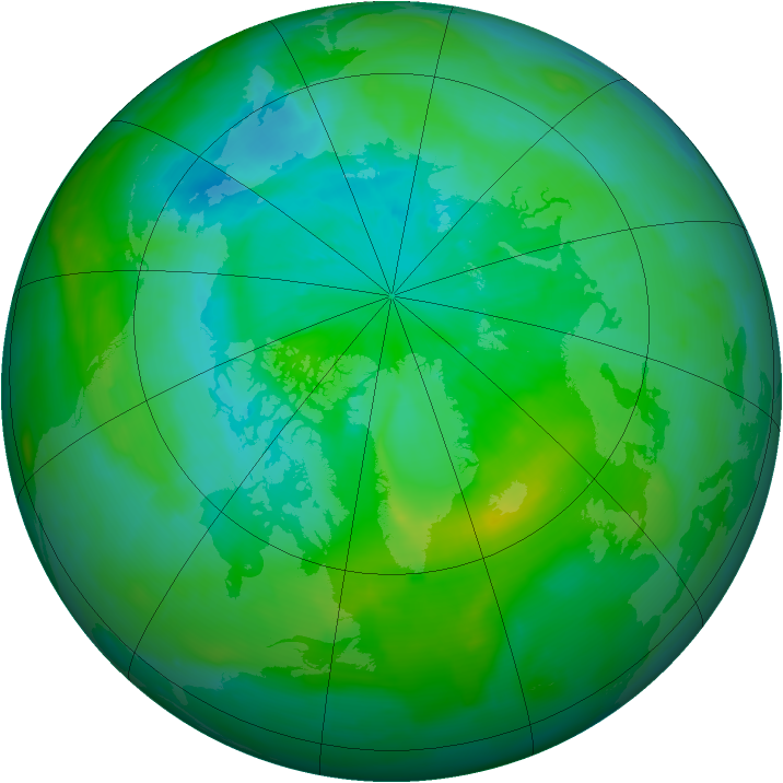 Arctic ozone map for 19 August 2013