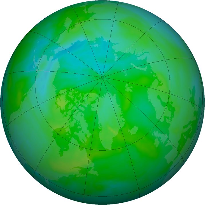 Arctic ozone map for 23 August 2013
