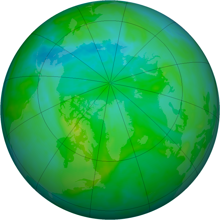 Arctic ozone map for 24 August 2013