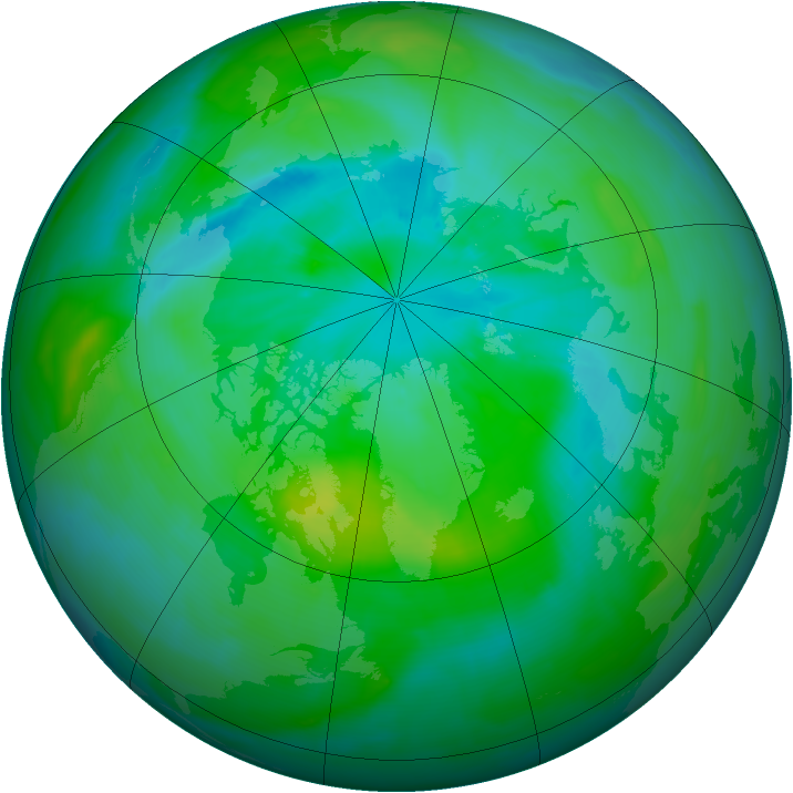 Arctic ozone map for 26 August 2013