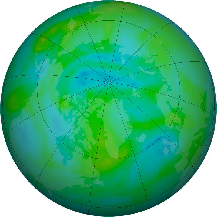 Arctic ozone map for 01 September 2013