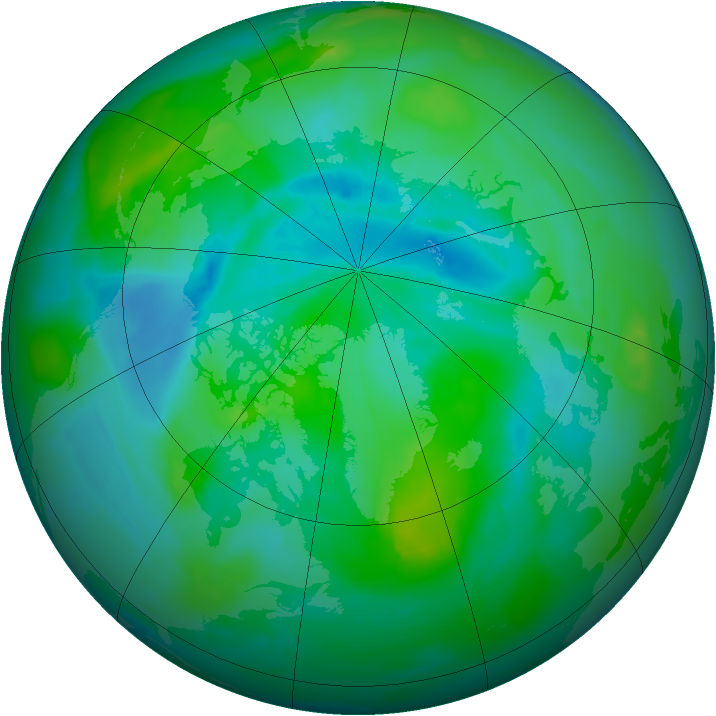 Arctic ozone map for 03 September 2013