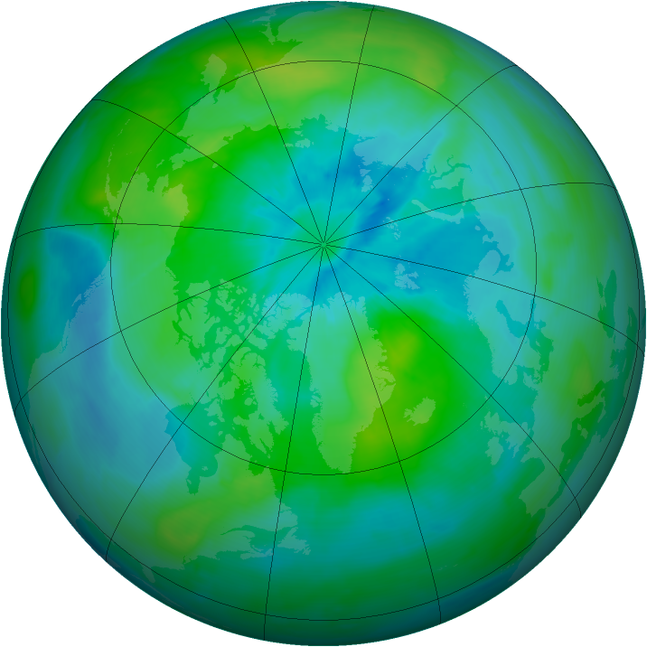 Arctic ozone map for 13 September 2013