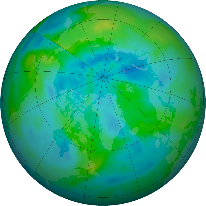 Arctic ozone map for 17 September 2013