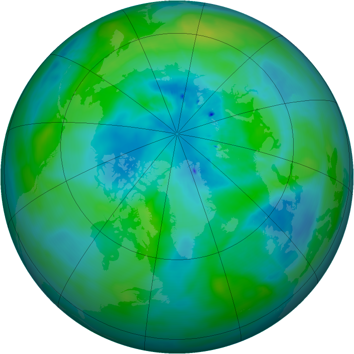 Arctic ozone map for 23 September 2013