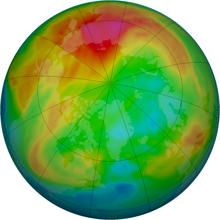 Arctic ozone map for 28 January 2014