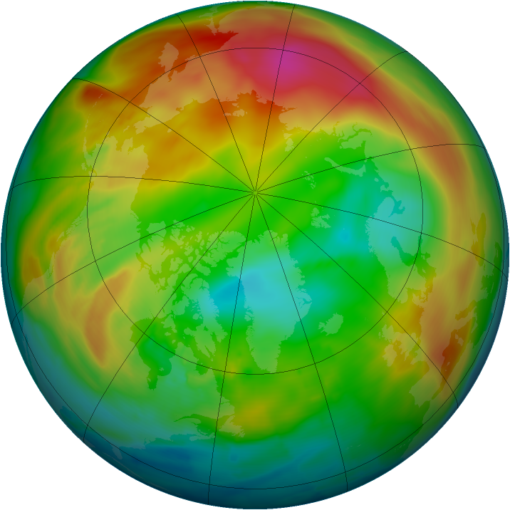 Arctic ozone map for 30 January 2014