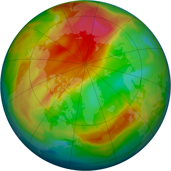 Arctic ozone map for 05 February 2014