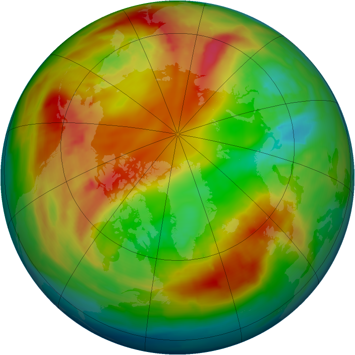 Arctic ozone map for 07 February 2014
