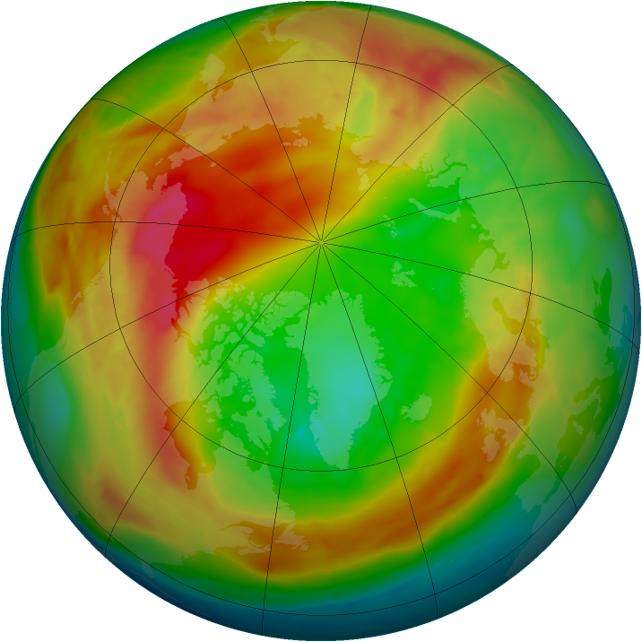 Arctic ozone map for 12 February 2014
