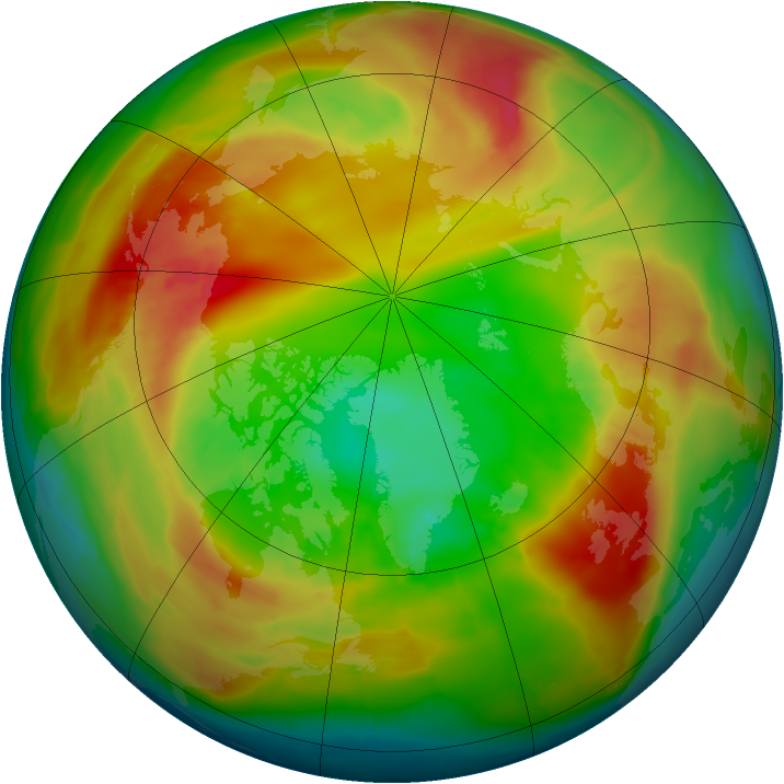 Arctic ozone map for 15 February 2014