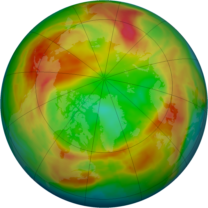 Arctic ozone map for 16 February 2014