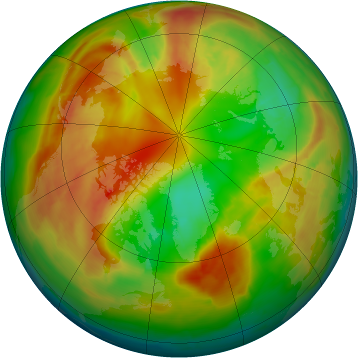 Arctic ozone map for 19 February 2014