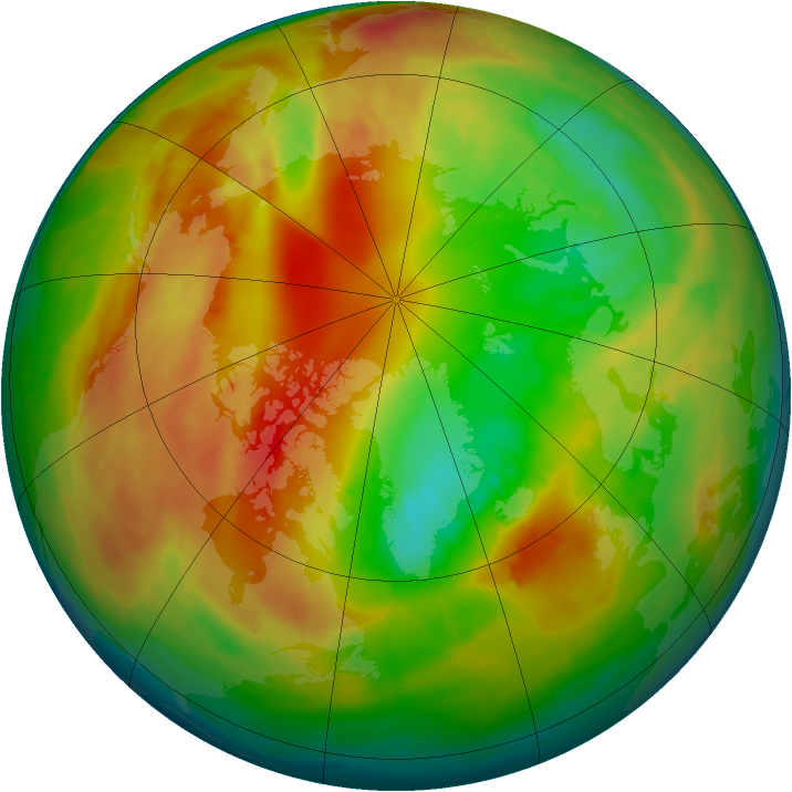 Arctic ozone map for 20 February 2014