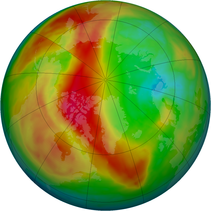 Arctic ozone map for 22 February 2014