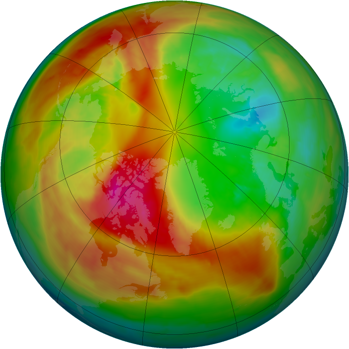 Arctic ozone map for 23 February 2014