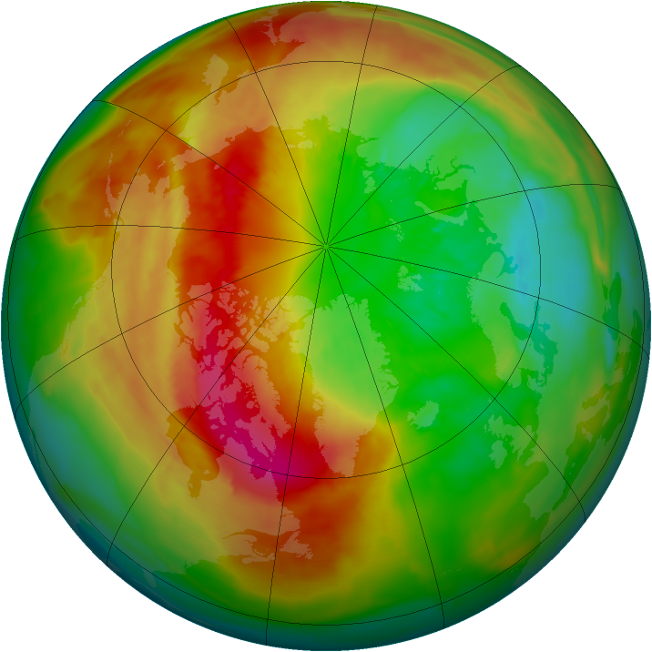 Arctic ozone map for 10 March 2014