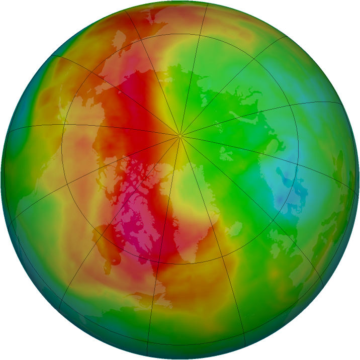 Arctic ozone map for 12 March 2014