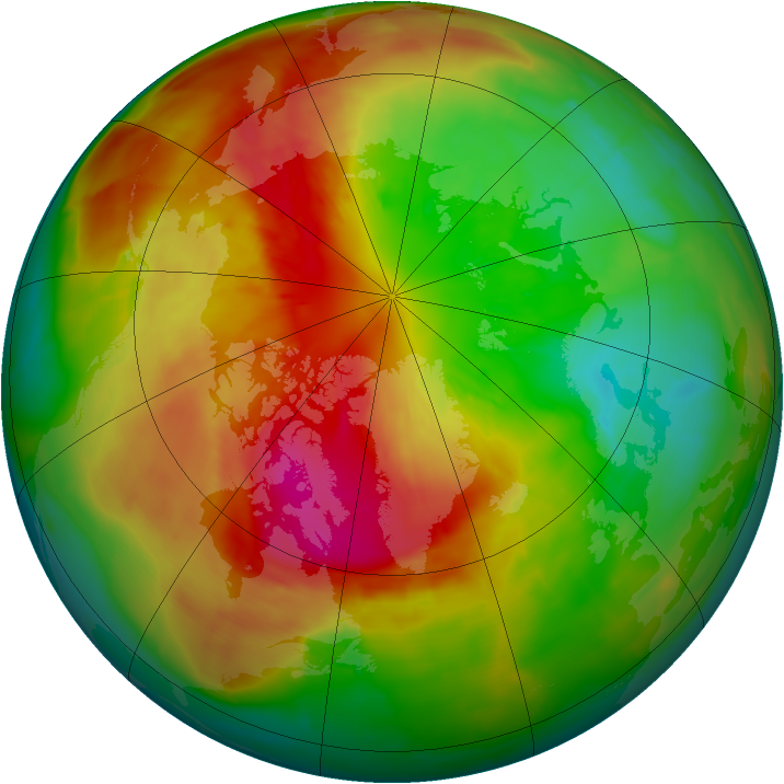 Arctic ozone map for 13 March 2014