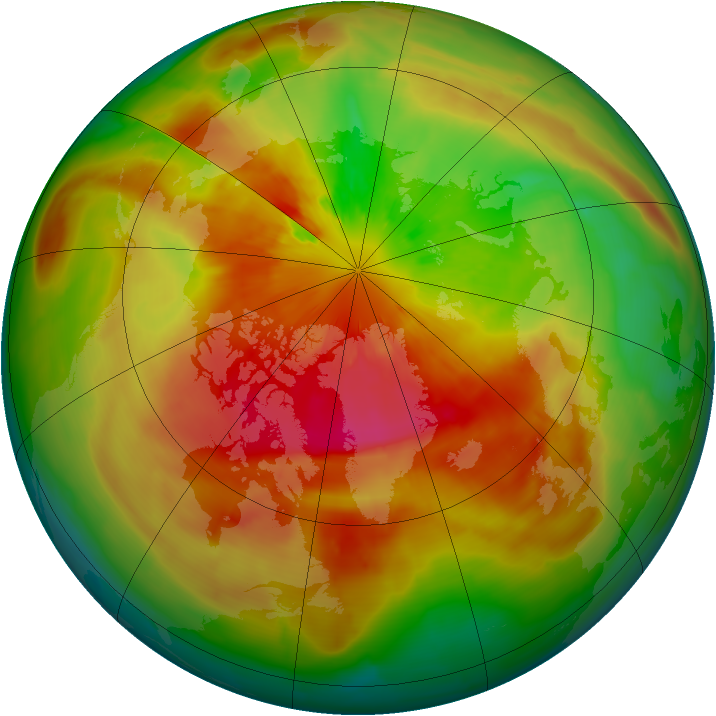 Arctic ozone map for 22 March 2014