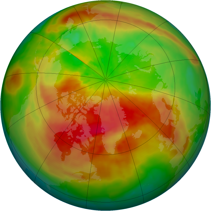 Arctic ozone map for 23 March 2014