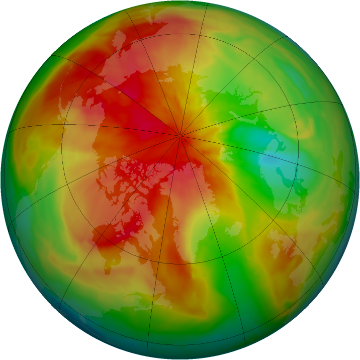 Arctic ozone map for 28 March 2014