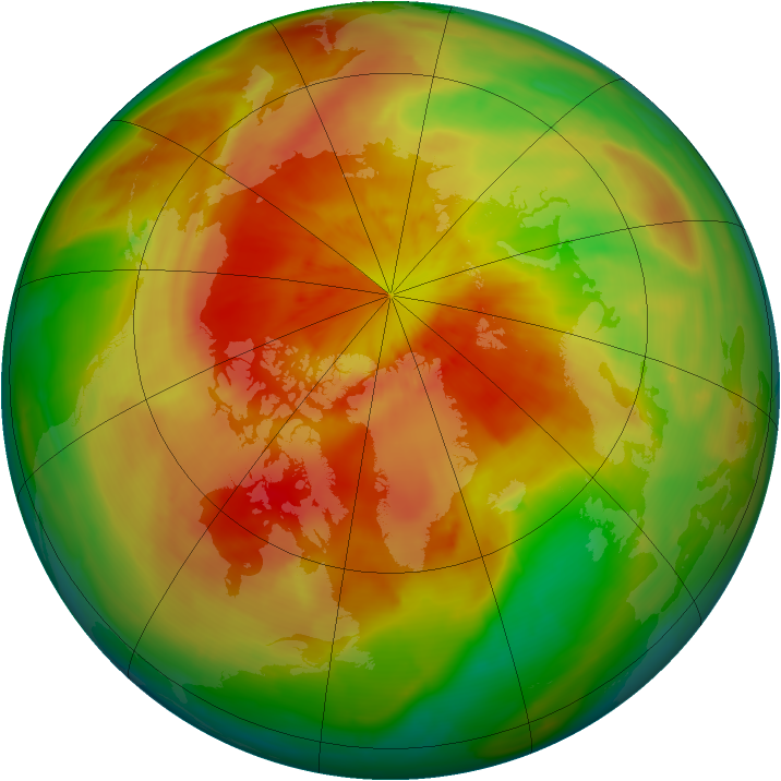 Arctic ozone map for 11 April 2014