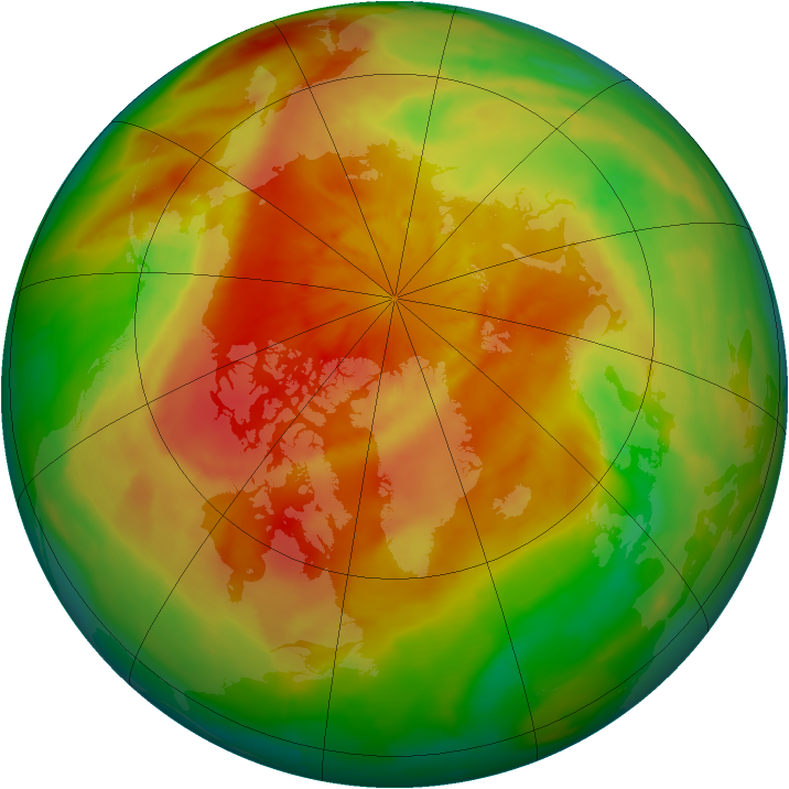 Arctic ozone map for 12 April 2014