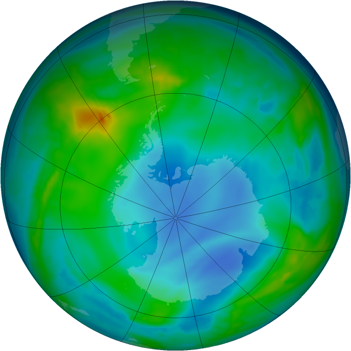 Antarctic ozone map for 27 May 2014