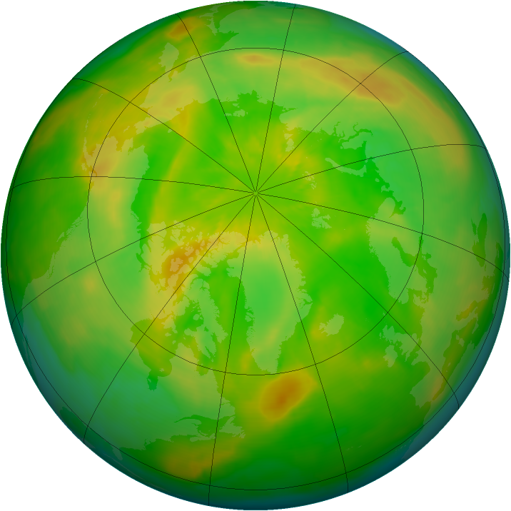 Arctic ozone map for 01 June 2014