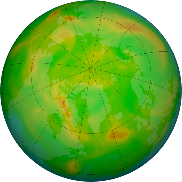 Arctic ozone map for 02 June 2014